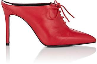 Barneys New York Women's Leather Lace-Up Mules - Red