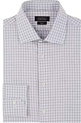 Barneys New York Men's Grid-Checked Cotton Poplin Shirt
