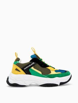Calvin Klein maya colorblock logo athletic sneaker