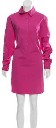 Michael Kors Long Sleeve Shirt Dress Magenta Long Sleeve Shirt Dress