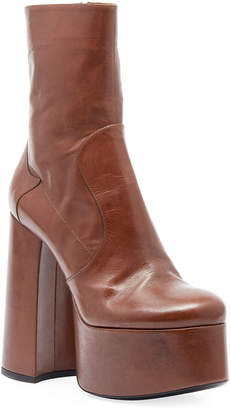 Saint Laurent Billy Kangaroo Leather Platform Boot