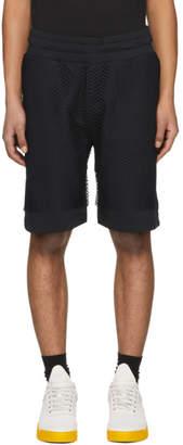 Kenzo Black Mesh Jersey Shorts