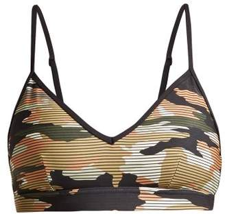 The Upside - Andie Striped Camouflage Print Performance Bra - Womens - Camouflage