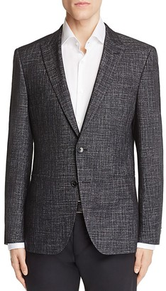 BOSS Hugo Boss Weave Peak Lapel Slim Fit Sport Coat $595 thestylecure.com