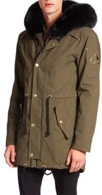 Moose Knuckles Walker Fur-Trimmed Canvas Jacket