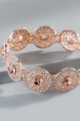 francesca's Raelynn Stretch Bracelet - Rose/Gold