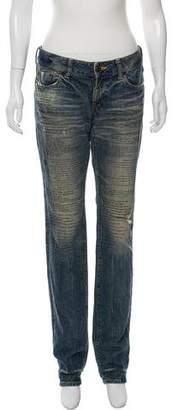 PRPS Low-Rise Straight-Leg Jeans