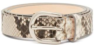 e235f455a4d3 Isabel Marant Zap Snake Effect Leather Belt - Womens - White