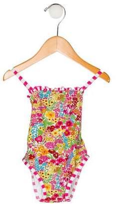 Oscar de la Renta Girls' Printed Swimsuit w/ Tags