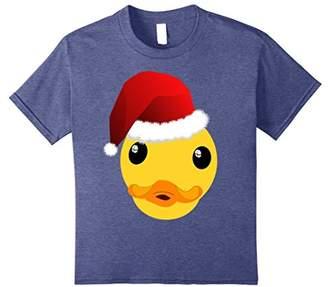 Funny Christmas Duck Shirt - Duck in Santa Hat T-Shirt