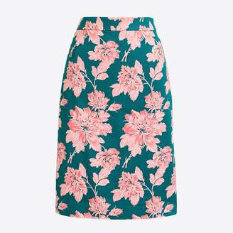 ... J.Crew Factory Printed stretch cotton sateen pencil skirt f40fe6d58