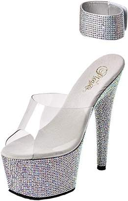 Pleaser USA Women's Bejeweled-712 Platform Sandal