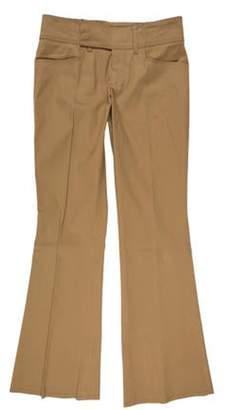 Gucci Mid-Rise Wide-Leg Pants Tan Mid-Rise Wide-Leg Pants