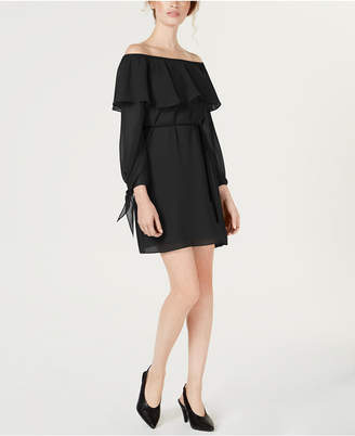 Maison Jules Ruffled Off-The-Shoulder Dress