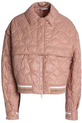Stella McCartney Metallic-trimmed Quilted Shell Jacket
