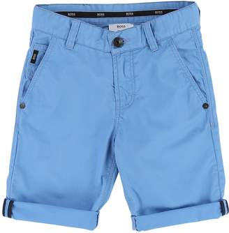 HUGO BOSS Solid Twill Bermuda Shorts
