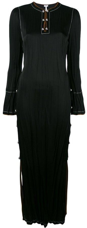 Loewe split side long dress