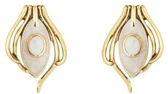 House Of Harlow Howlite Risha Clip On Earrings