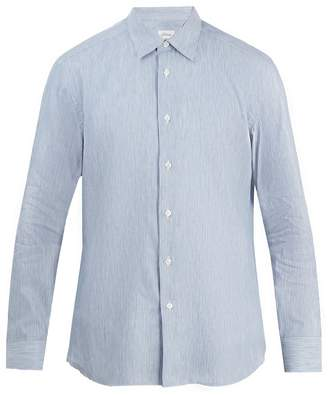 Brioni Striped cotton-linen shirt