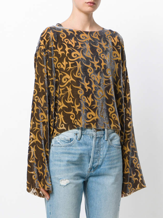 Aries printed blouse