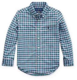 Ralph Lauren Boys' Plaid Performance Button-Down Shirt - Little Kid