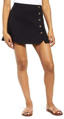 BP Button Wrap Miniskirt (Plus Size)