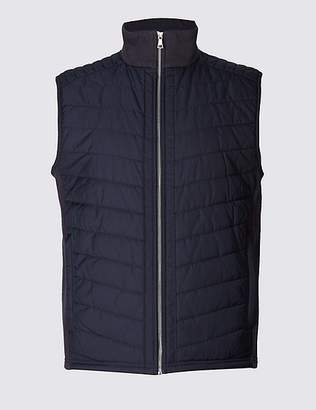 Marks and Spencer Cotton Rich Funnel Neck Gilet