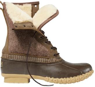 "L.L. Bean Men's L.L.Bean Boot, 10"" Shearling-Lined Herringbone"