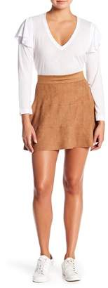 David Lerner Waverly Microsuede Skirt