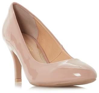 Head Over Heels by Dune - Natural 'Avana' Mid Stiletto Heel Court Shoes