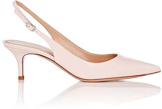 Gianvito Rossi Women's Patent Leather Slingback Pumps $665 thestylecure.com
