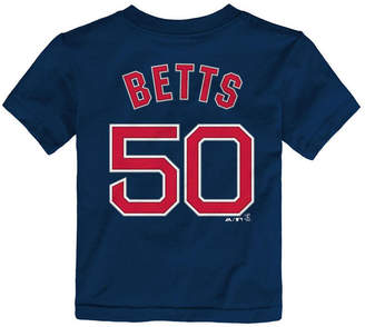 Majestic Mookie Betts Boston Red Sox Official Player T-Shirt, Toddler Boys