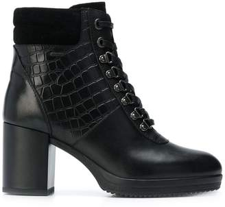 Geox croc embossed boots