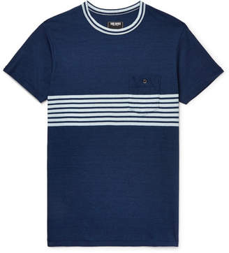 Todd Snyder Indigo-Dyed Striped Cotton-Jersey T-Shirt