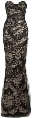 Marchesa fitted net dress