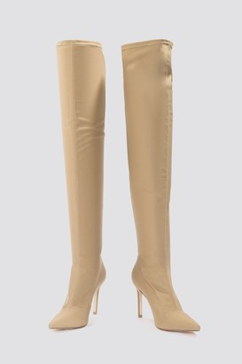Na Kd Shoes Tight Over Knee Boot Golden Brown