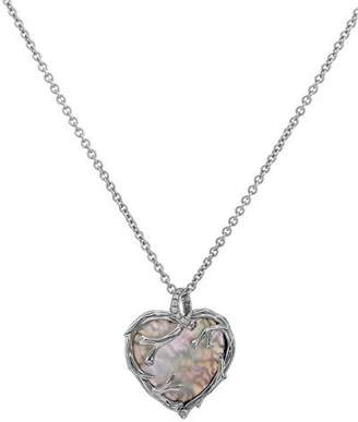 Michael Aram Enchanted Forest Twig Heart Necklace w/ Mother-of-Pearl, 18""