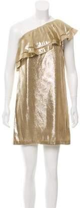 Rachel Zoe Marina Silk Metallic Dress