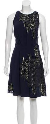 Maison Rabih Kayrouz Eyelet Knee-Length Dress w/ Tags