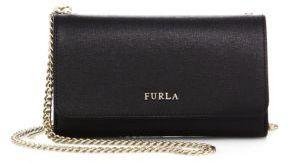 Furla Babylon Large Leather Chain Wallet $238 thestylecure.com