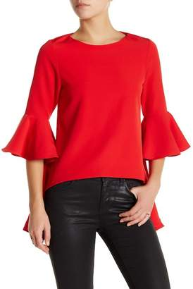 Gracia Bell Sleeve Hi-Lo Blouse $76 thestylecure.com