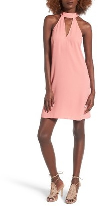 Women's Leith Choker Neck Shift Dress $65 thestylecure.com