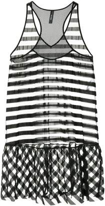Marc Cain sheer striped flared dress