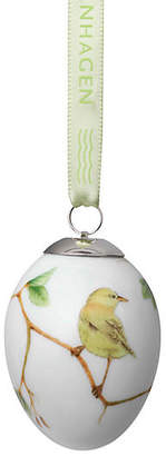 "Royal Copenhagen 3"" Warbler Easter Egg Ornament - Yellow"
