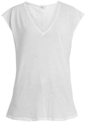 Frame - V Neck Cotton Jersey T Shirt - Womens - White