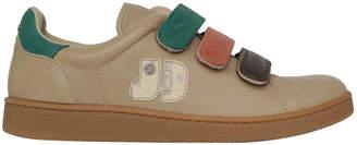 Jerome Dreyfuss Run Beige Triple Velcro Strap Sneaker