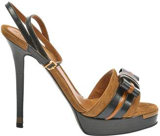 Fendi Brown Suede High heel
