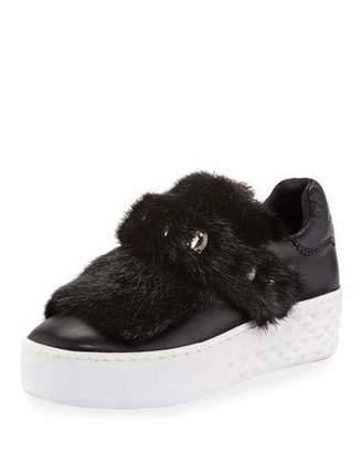 Ash Djin Embellished Grip Platform Sneaker