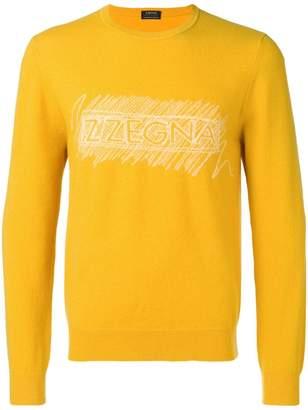 Ermenegildo Zegna logo knit jumper