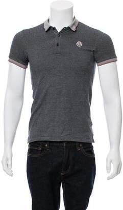 Moncler Woven Short Sleeve Polo